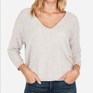 Velvet Chenille V-neck Sweater Size Medium